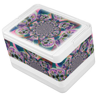 Scull Swirl Purple Igloo Cooler