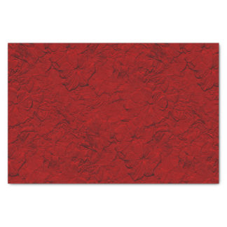 Sculpted Petunias Red-Tissue Paper Wrap