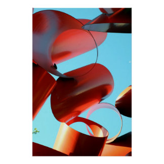 Sculpture and Sky, Seattle Poster