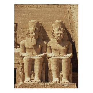 Sculpture at Abu Simbel -Cairo, Egypt Postcard
