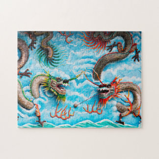 Sculpture Dragons Singapore . Jigsaw Puzzle