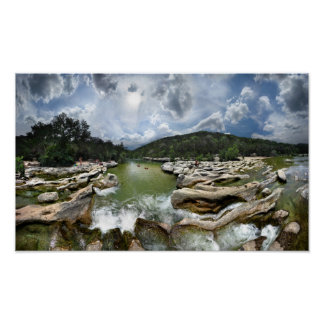 Sculpture Falls 5 - Barton Creek in Austin Texas Poster