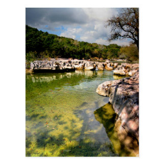 Sculpture Falls Calm -Barton Creek - Austin Texas Postcard