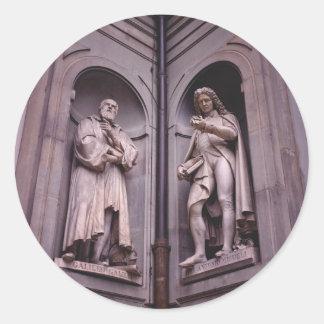 Sculpture Florence Round Sticker