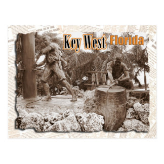 Sculpture in Key West, Florida Postcard