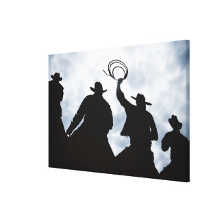 sculpture that welcomes you to Dodge City Kansas 2 Canvas Prints
