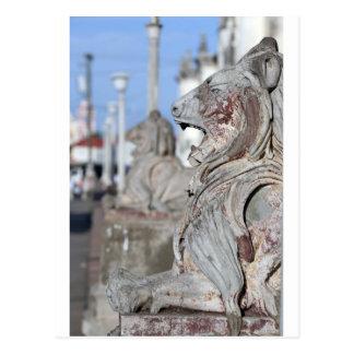 Sculptured stone lions of Leon, Nicaragua Postcard