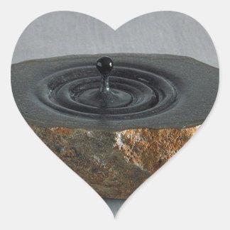 Sculptures  design heart sticker