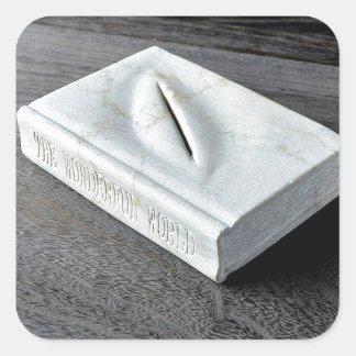 Sculptures designs square sticker