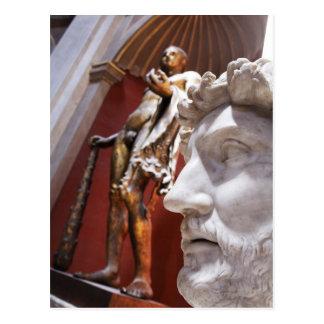 Sculptures inside Vatican Museum, Vatican City, Postcard