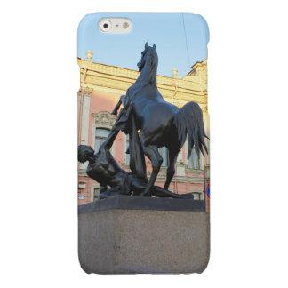 Sculptures  the Anichkov bridge in St. Petersburg