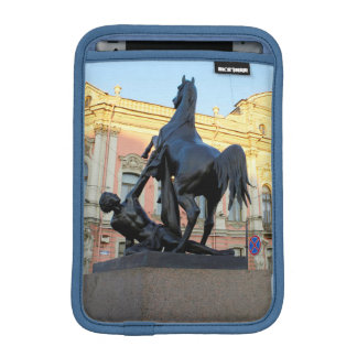 Sculptures  the Anichkov bridge in St. Petersburg iPad Mini Sleeve