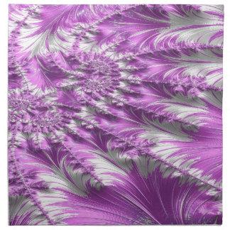 scurfy obsidian fractal napkin