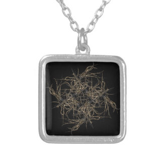 scwarzes gold silver plated necklace