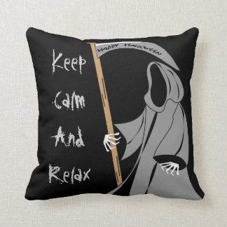 Scytheman, of the dead,funny halloween cushion