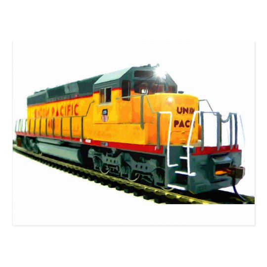 SD-40 Locomotive Postcard