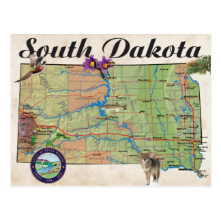 SD state map Postcard