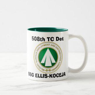 sddc, 508th TC Det, SSG ELLIS-KOCEJA Two-Tone Coffee Mug