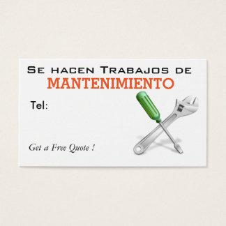 Se hacen trabajos de Mantenimiento Business Card