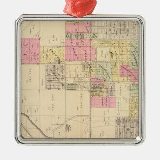 SE Omaha, Nebraska Silver-Colored Square Ornament
