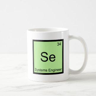Se - Systems Engineer Funny Chemistry Element Tee Basic White Mug