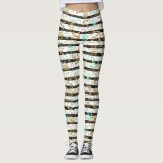 Sea Anchor Pattern Leggings