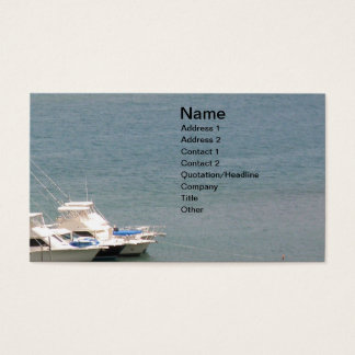 Sea and Boats Business Card