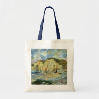 Sea and Cliffs by Pierre Renoir, Vintage Fine Art Budget Tote Bag