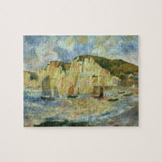 Sea and Cliffs by Pierre Renoir, Vintage Fine Art Jigsaw Puzzle