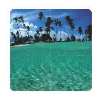 Sea And Island, Indonesia Puzzle Coaster
