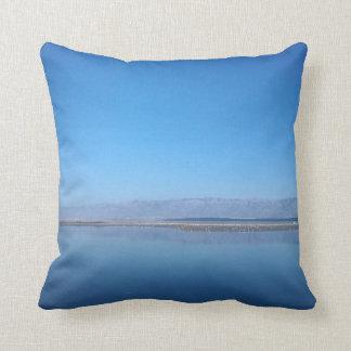 Sea and mountain views throw pillow