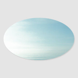 Sea And Sky Oval Sticker