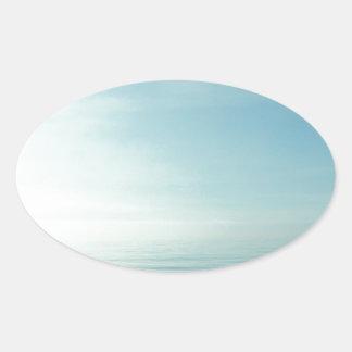 Sea And Sky Oval Sticker