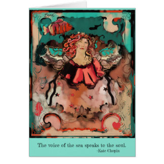 Sea Angel Inspirational Art Deco Card