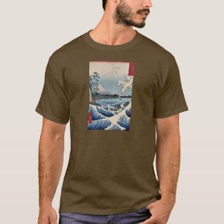 Sea at Satta in Suruga Province by Ando, Hiroshige T-Shirt