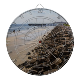 Sea Barrier Atlantic Ocean Georgia Beach Dartboard With Darts