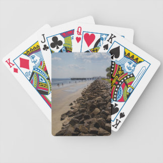 Sea Barrier Atlantic Ocean Georgia Beach Poker Deck