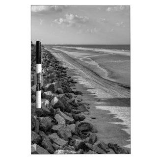 Sea Barrier Atlantic Ocean Georgia Black and White Dry Erase Whiteboard