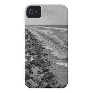 Sea Barrier Atlantic Ocean Georgia Black and White iPhone 4 Covers