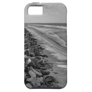 Sea Barrier Atlantic Ocean Georgia Black and White iPhone 5 Covers