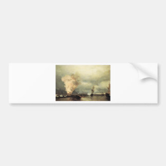 Sea battle near Vyborg by Ivan Aivazovsky Bumper Sticker