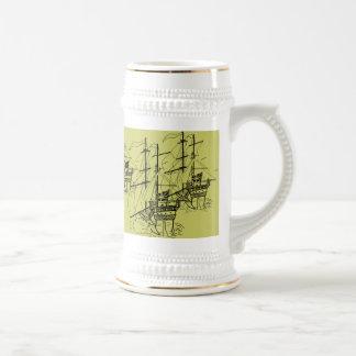 Sea Battle Tankard Beer Stein