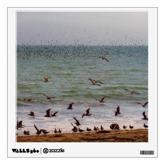 Sea Bird Swarm at California Beach Wall Sticker