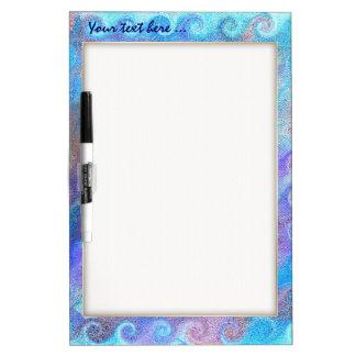 Sea Blue Curls Dry-Erase Boards