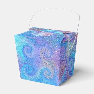 Sea Blue Curls Favor Boxes