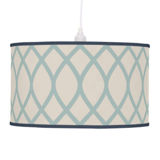 Sea Blue Geometric Ceiling Lamp