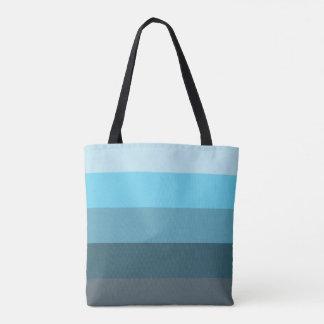 Sea Blue Ombre Tote Bag