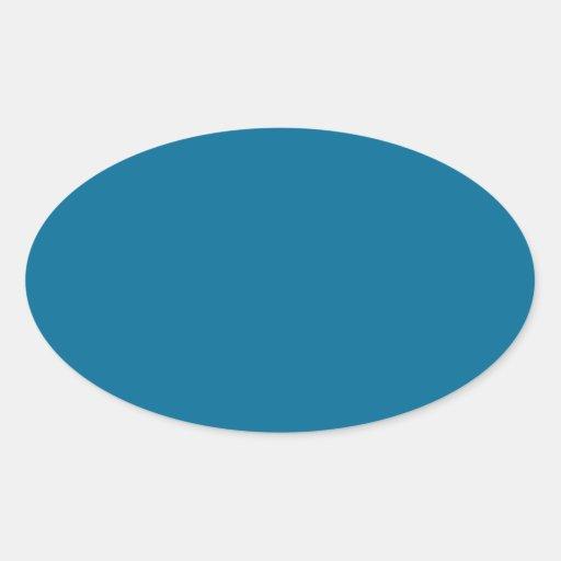 Sea Blue Oval Sticker