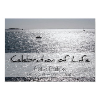 Sea Boat Celebration of Life Funeral Announcement
