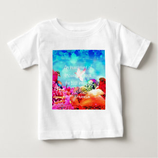 Sea bottom among corals and quote baby T-Shirt